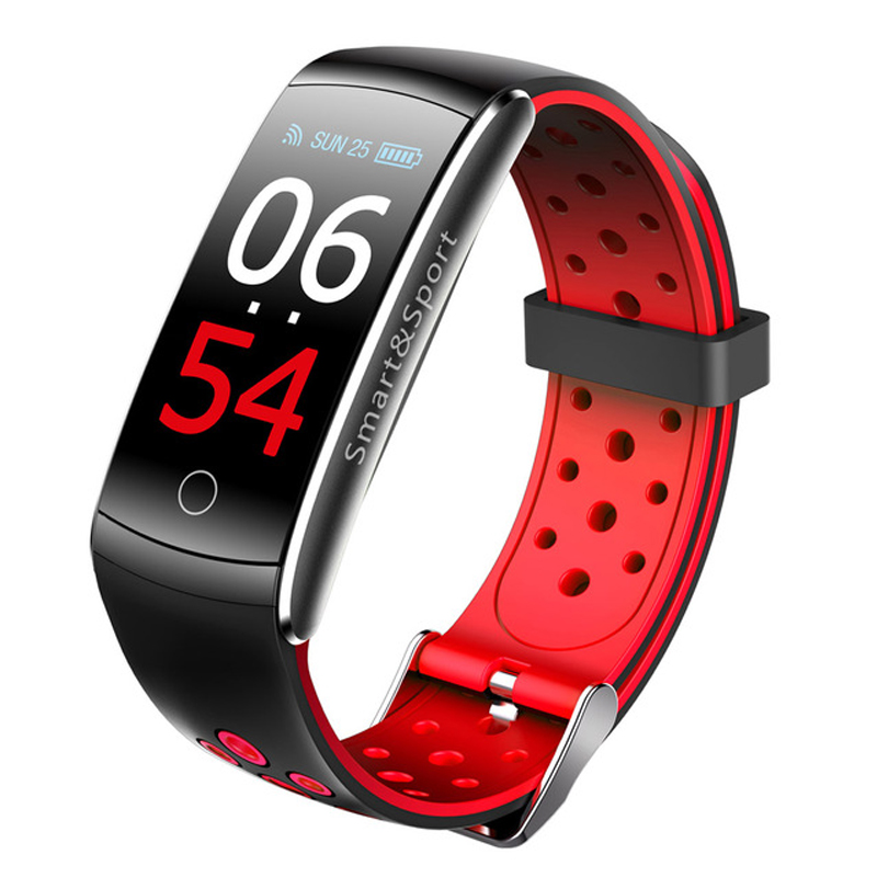 0.96 Inch IPS LCD Screen Smart Watch Blood Pressure Heart Rate Monitor Sports Fitness Tracker red