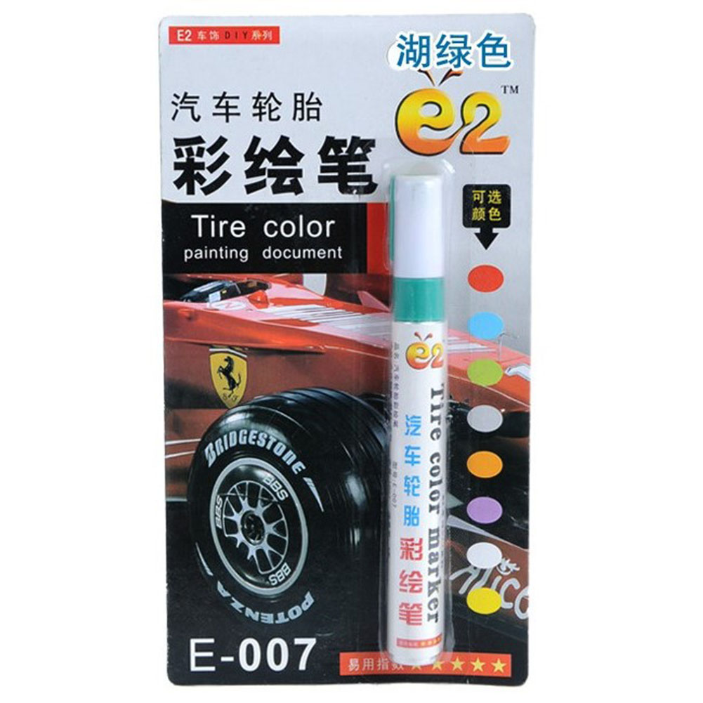 Tire Pen Colorful Styling Waterproof Pen Car truck Tires Tread Metal Permanent Paint Markers green