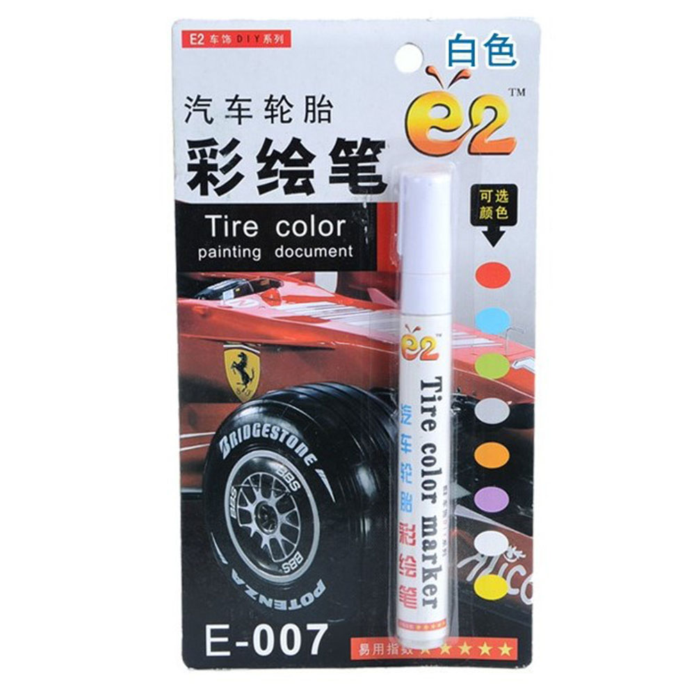 Tire Pen Colorful Styling Waterproof Pen Car truck Tires Tread Metal Permanent Paint Markers white