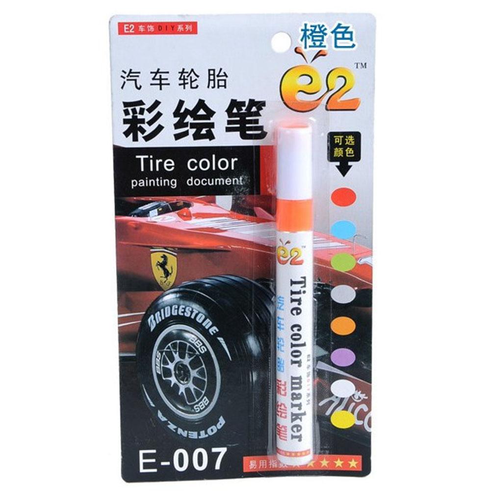 Tire Pen Colorful Styling Waterproof Pen Car truck Tires Tread Metal Permanent Paint Markers Orange