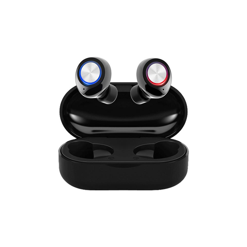 TW60 TWS Wireless Earphone Bluetooth 5.0 HiFi Stereo Headset Handsfree Call Sport Dual Earbuds Built-in HD Mic  black