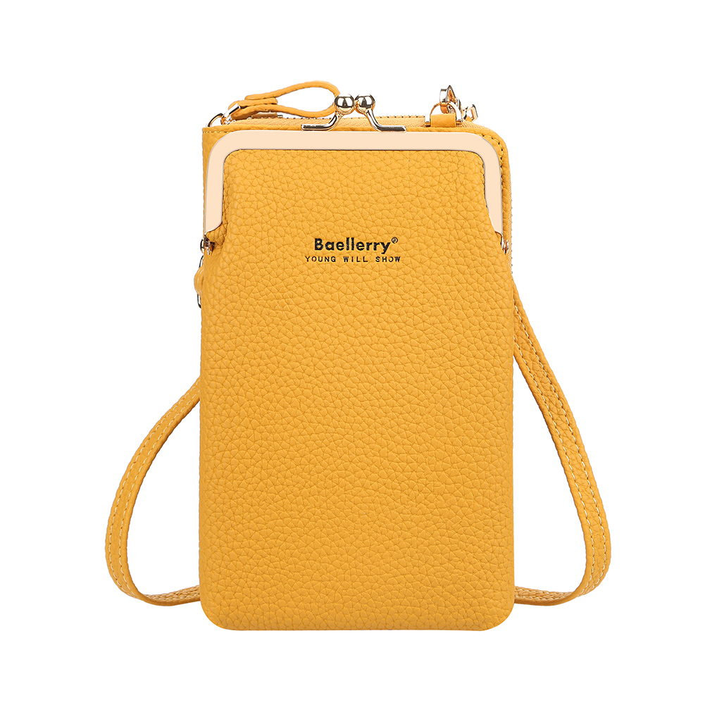 Women Satchel Crossbody Bag Mini PU Leather Shoulder Messenger Bag for Girls Phone Purse yellow