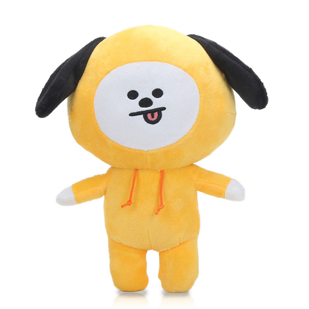 Kpop BTS BT21 Bangtan Boys Plush Cushion Stuffed Toy Dolls TATA COOKY CHIMMY SHOOKY MANG KOYA Yellow dog 30cm
