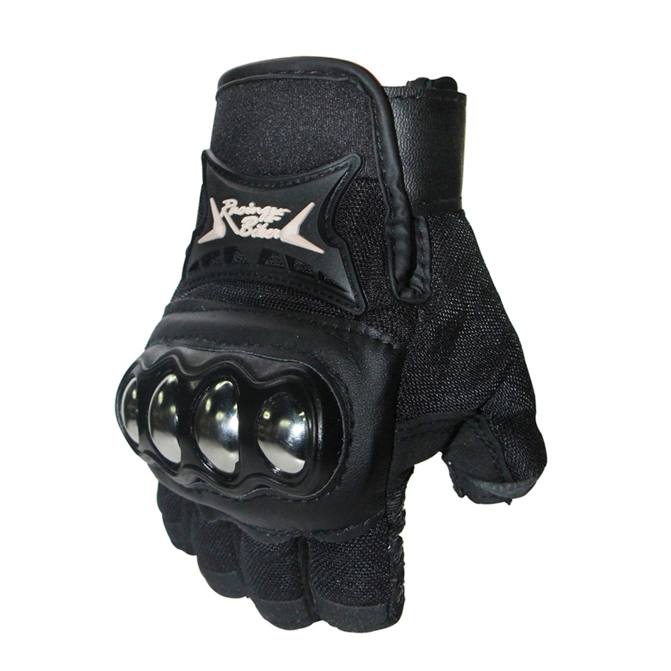 Professional Cycling Half Finger Gloves Bicycle Riding Hand Protection Mitten black_XL
