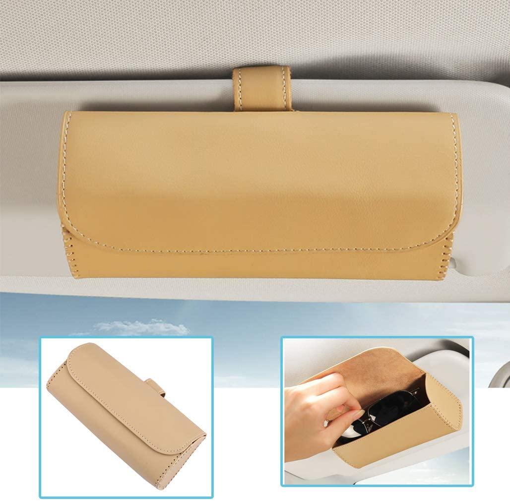 Car  Glasses  Case Hanging Sun Visor Sunglasses Holder Bill Card Storage Automotive Interior Accessories