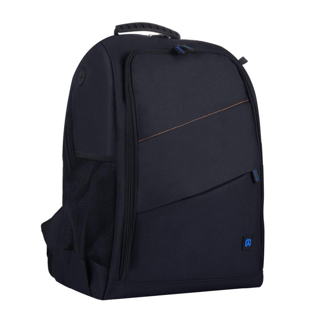 PULUZ Outdoor Portable Waterproof Scratch-proof Dual Shoulder Backpack Camera Bag Digital DSLR Photo Video Bag  black