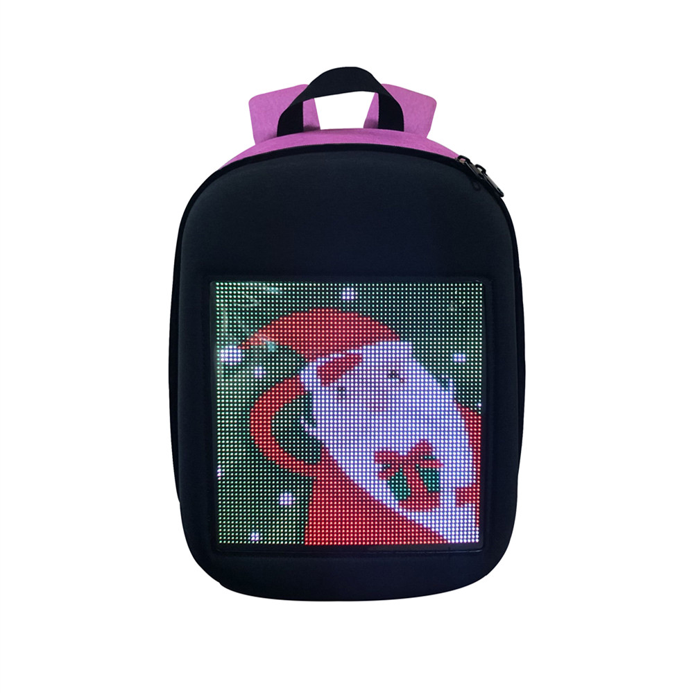 Smart LED Wifi Advertising Backpack Wireless Dynamic Backpack Shoulder Bag with Advertising Screen Boys Girls Gift