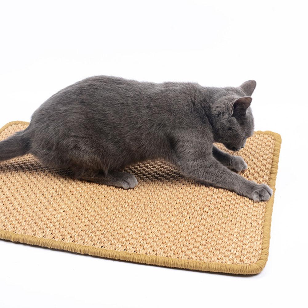 Cat Sisal Cat Scratch Board Food Sleeping Mat Cushion Carpet Pet Toy Claw Care 50*80 (random colour)