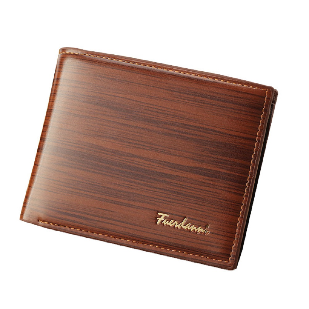 Men's Wallet Short Multi-card Soft Faux Leather Purse Holiday Supplies