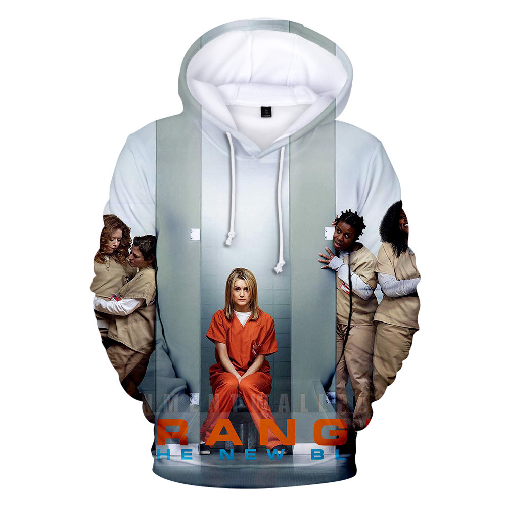 Couple Women Men American Drama Orange Is the New Black 3D Printing Hoodie Tops 3#_L