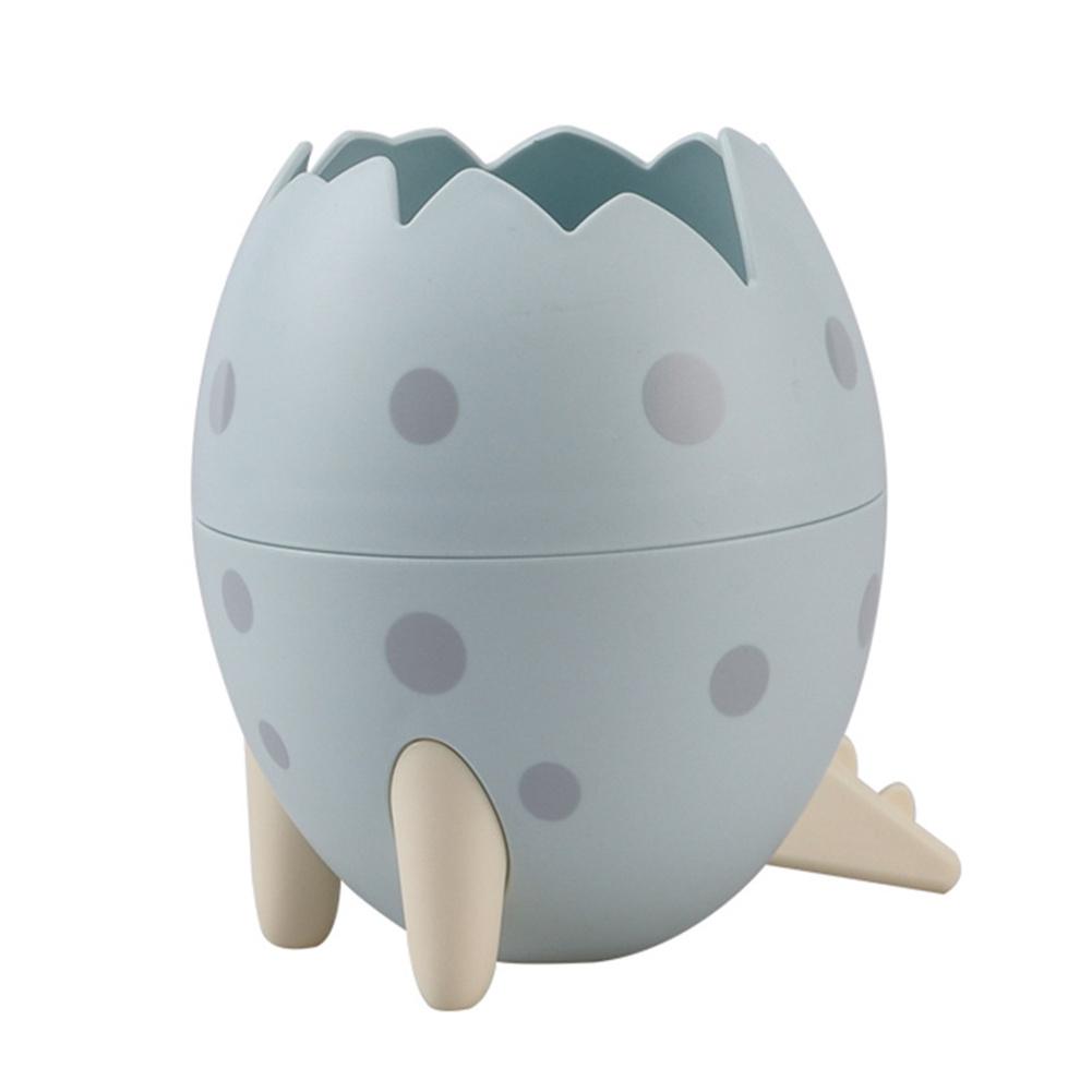 Dinosaur  Egg  Tripod  Desktop  Storage  Box Creative Desktop Makeup Brush Small Objects Organizer Blue