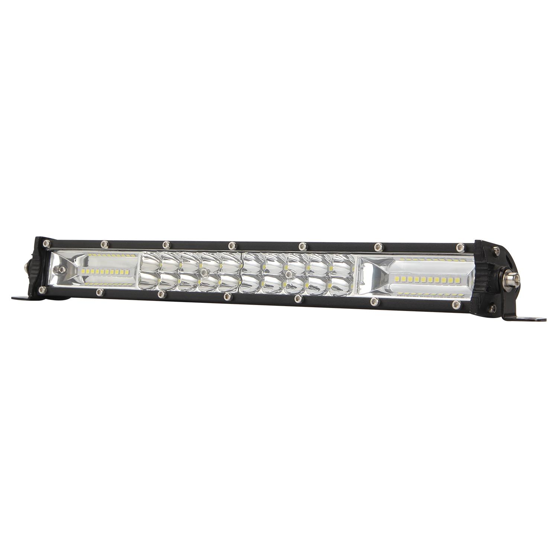 Eaglevision 15Inch LED Light Bar Spot Flood Work Light for SUV ATV Car Boat 15 inch two-row mixed light strip light