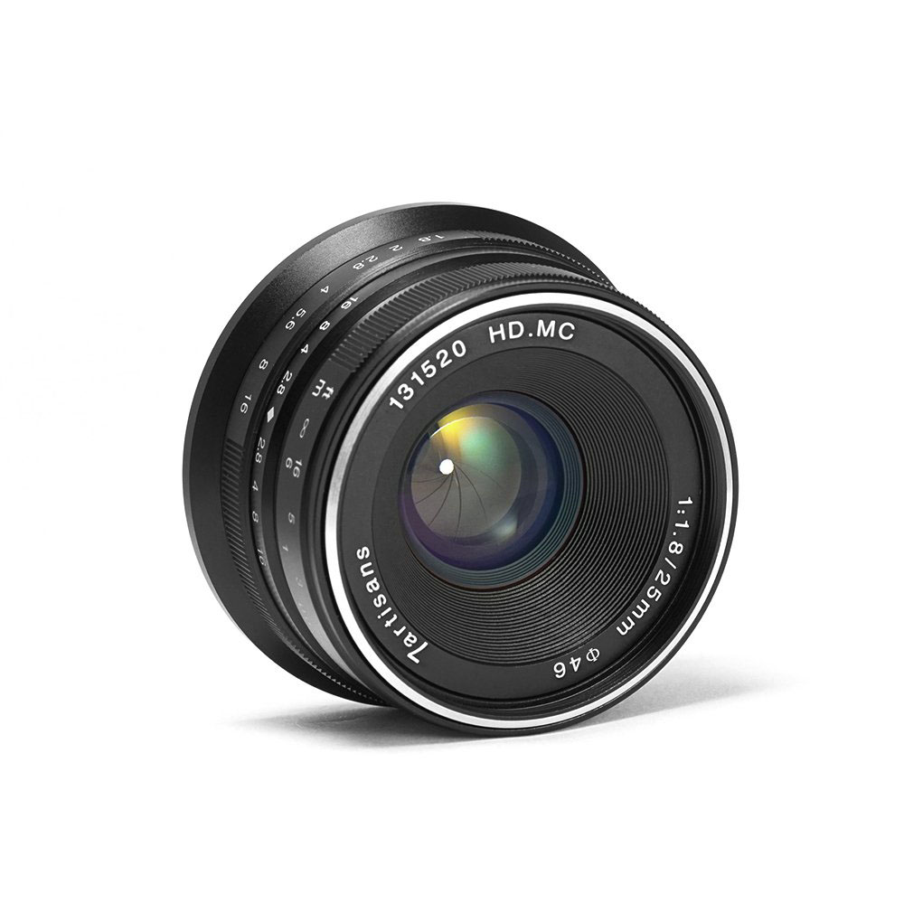 [Indonesia Direct] 7 artisans 25mm F1.8 Manual Focus Prime Fixed Lens for Cameras Black Macro 4/3 interface
