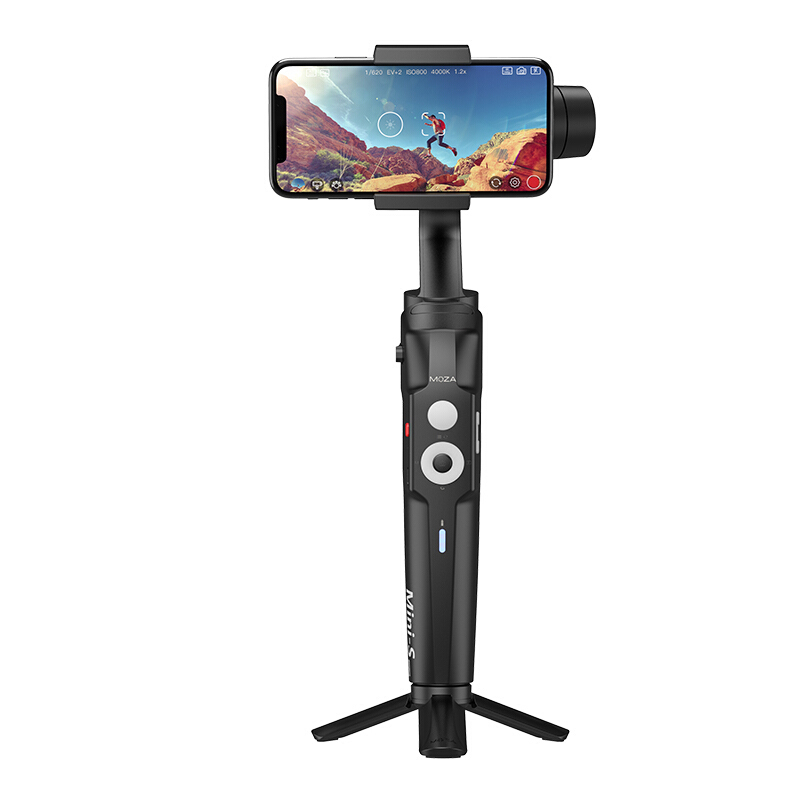[Indonesia Direct] MOZA Mini-S 3-Axis Foldable Smartphone Gimbal Stabilizer of Smart Camera for Motion Recording  black