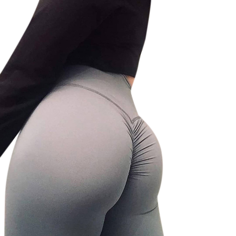 Women Solid Sexy Yoga Leggings_S
