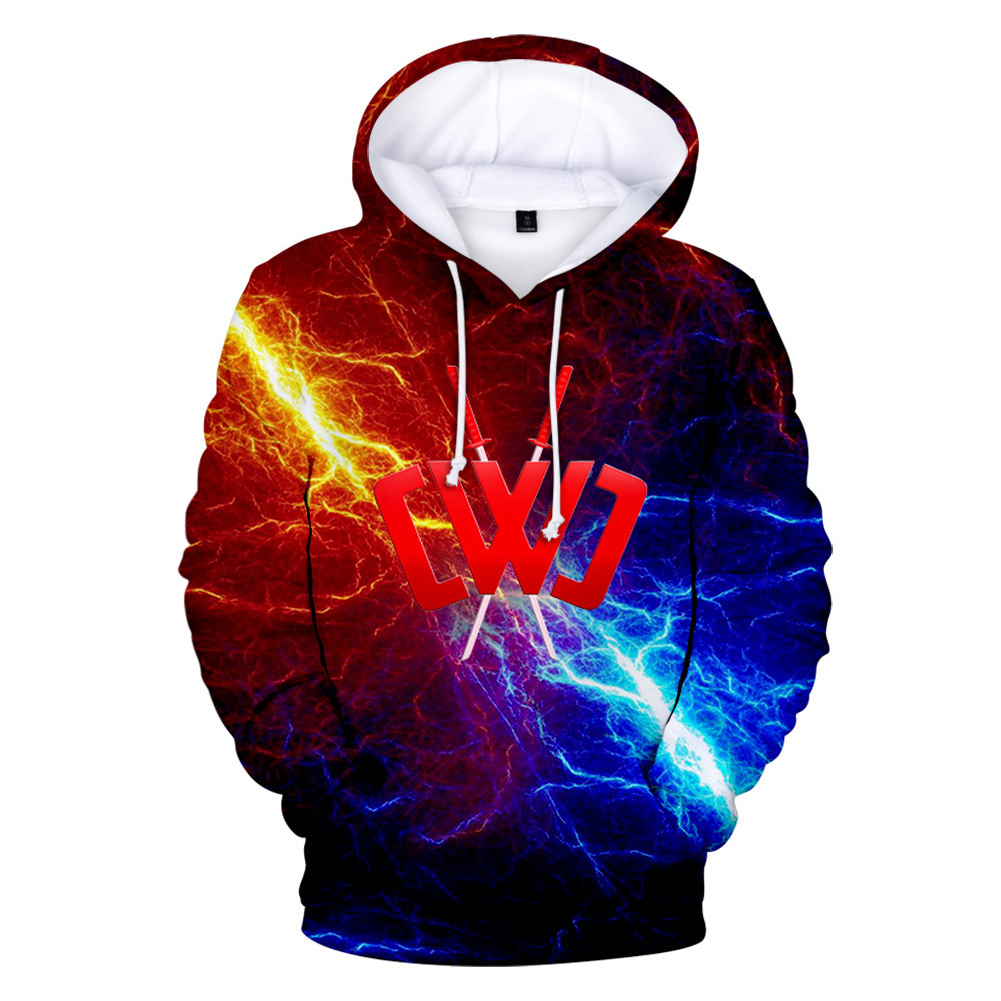 3D Digital Pattern Printed Sweater Long Sleeves Hoodie Top Loose Casual Pullover for Man Q style_XL