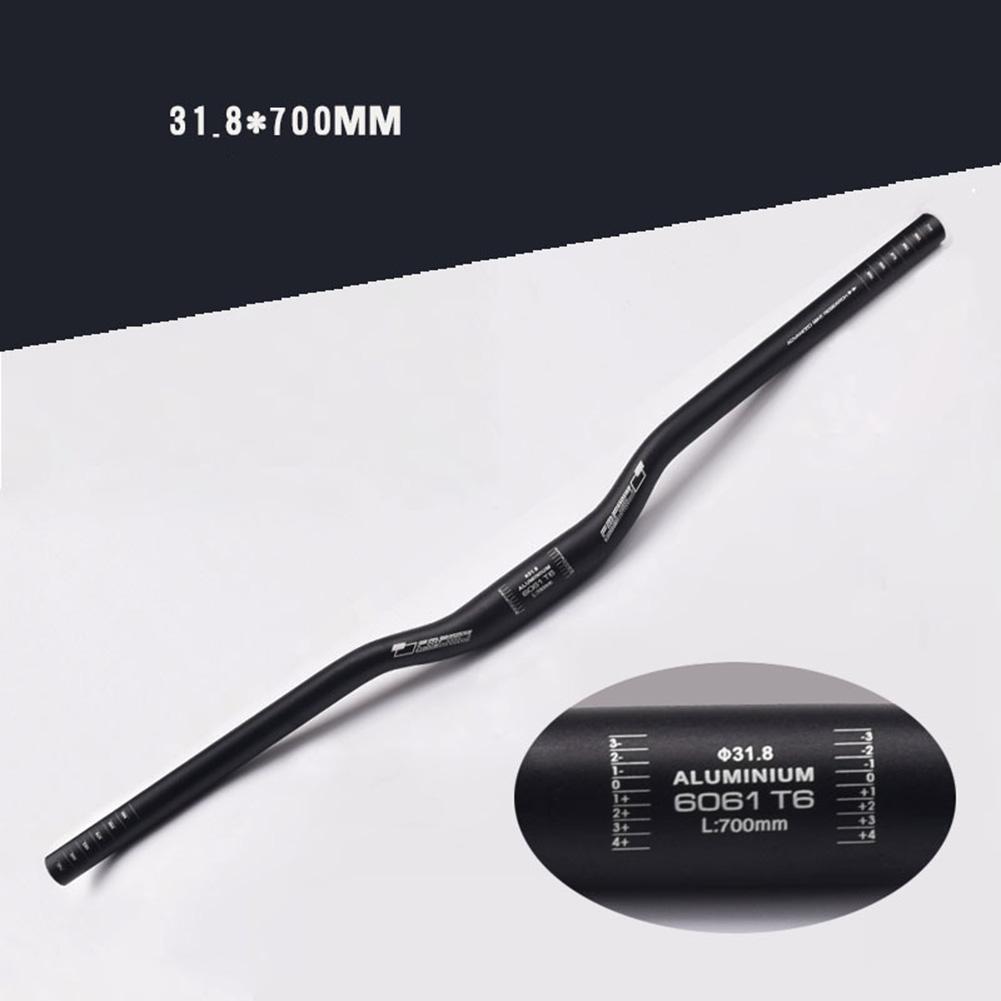 31.8*700mm Aluminum Alloy Handlebar Straight MTB Bicycle Riser Flat Handle Bar 9 degrees 31.8*700 long swallow handle black