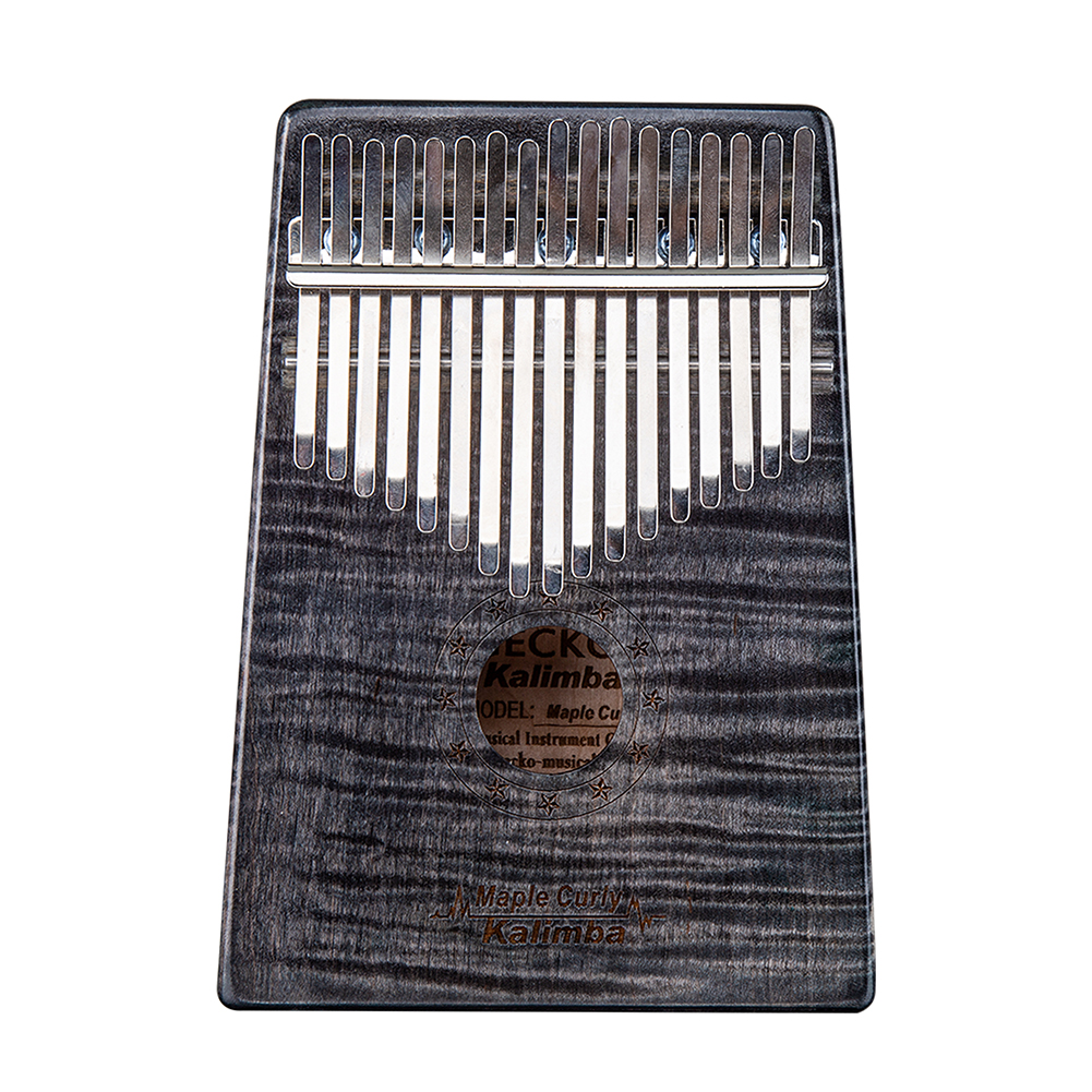 17 Key Wooden Thumb Piano Kalimba in C Music Instrument Toy Gift Portable black