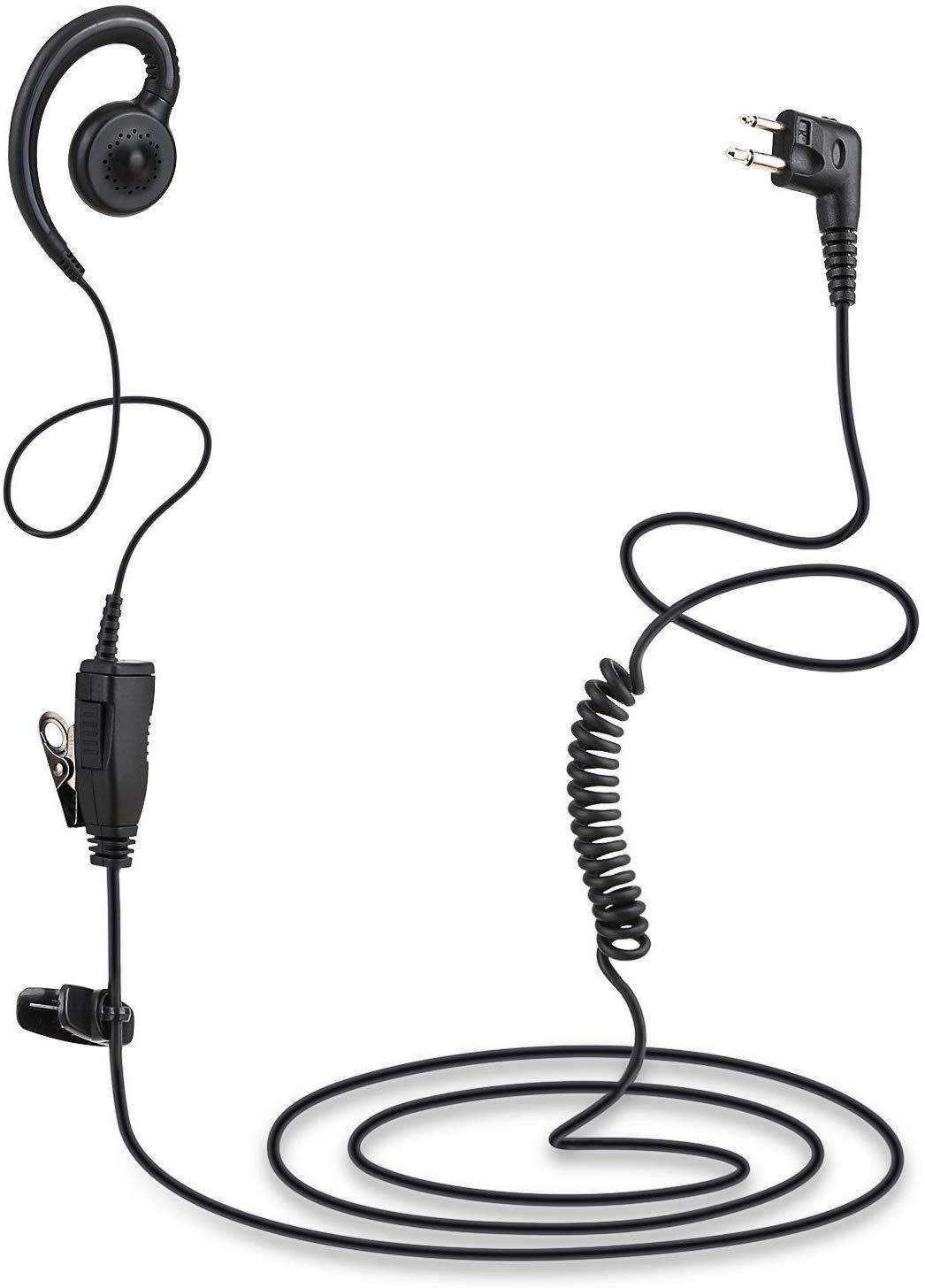 Swivel Earpiece with Microphone and PTT Kit for Motorola 2 Way Radio Walkie