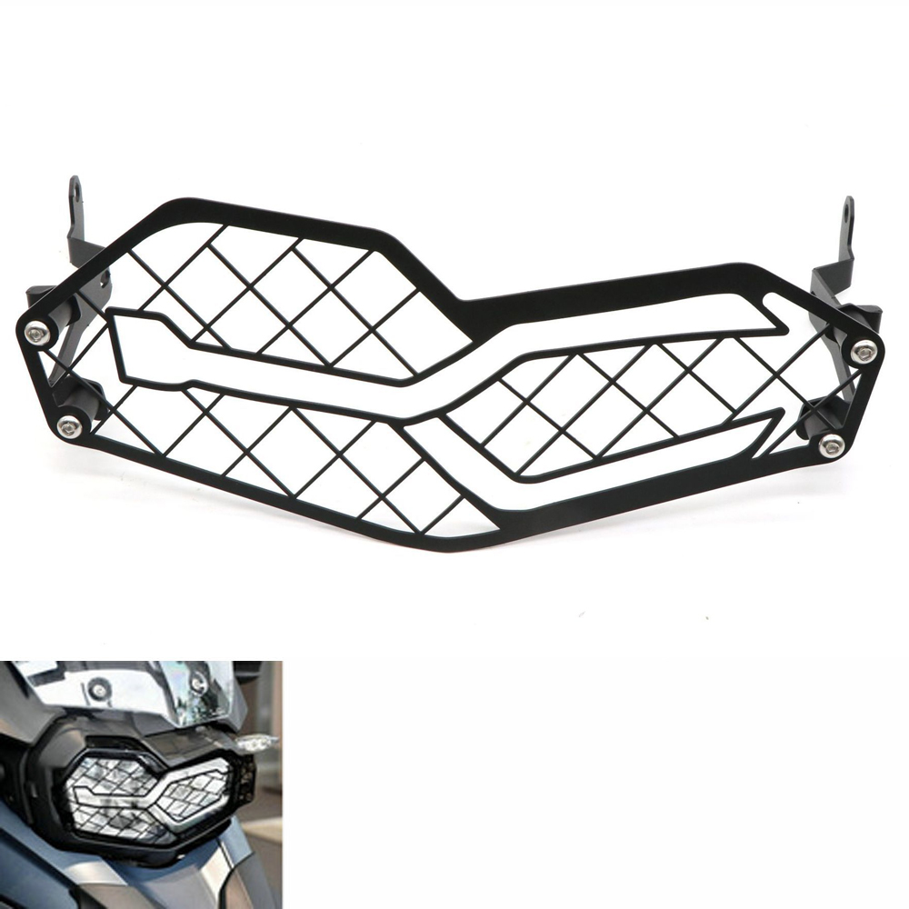 Motorcycle Headlight Protection Stainless Steel Grille Mesh for BMW F750GS F850GS 18-19 black