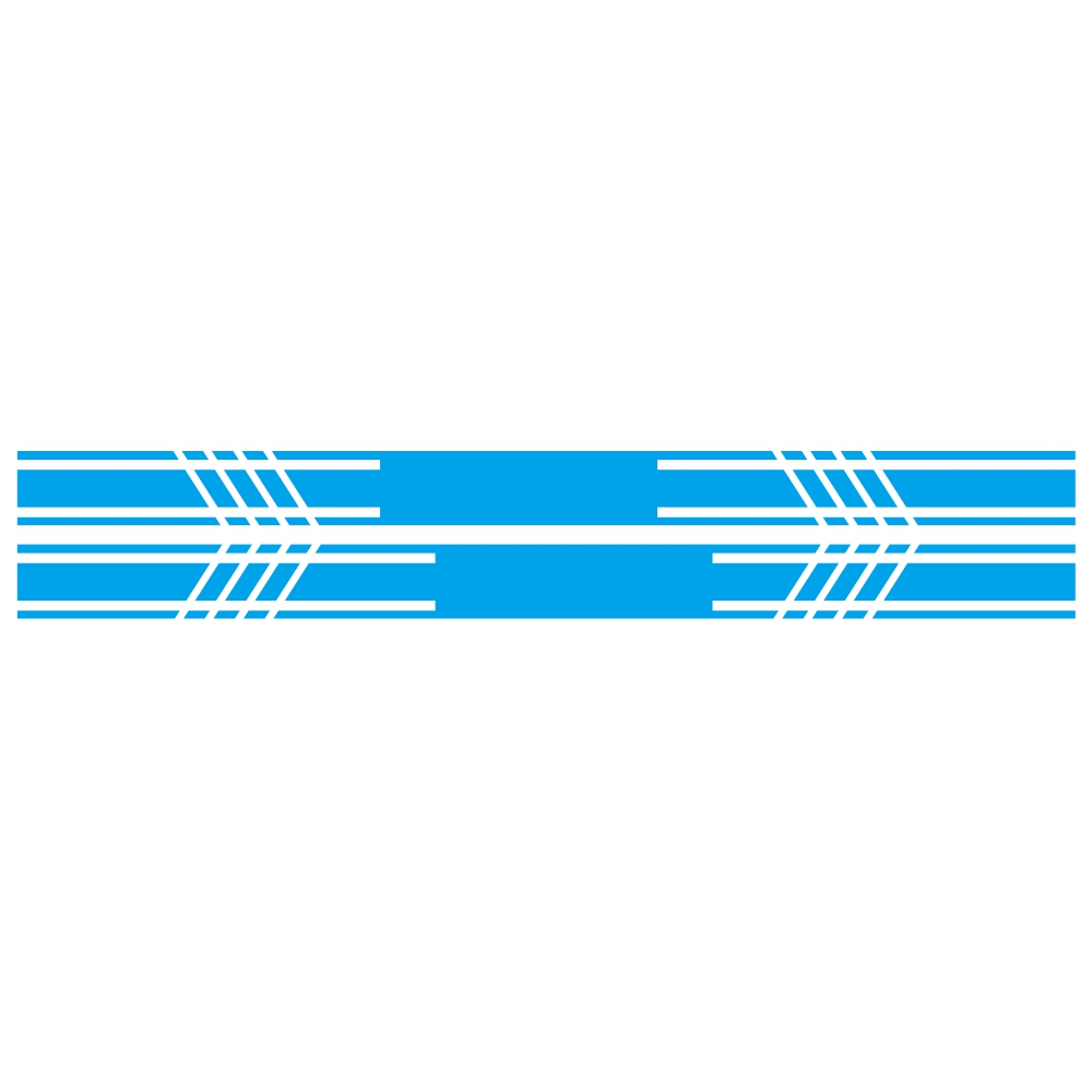 D-1044 2pcs Car Stickers Car Body Racing Side Door Long Striped Stickers Auto Vinyl Decal for All Cars SUV  blue