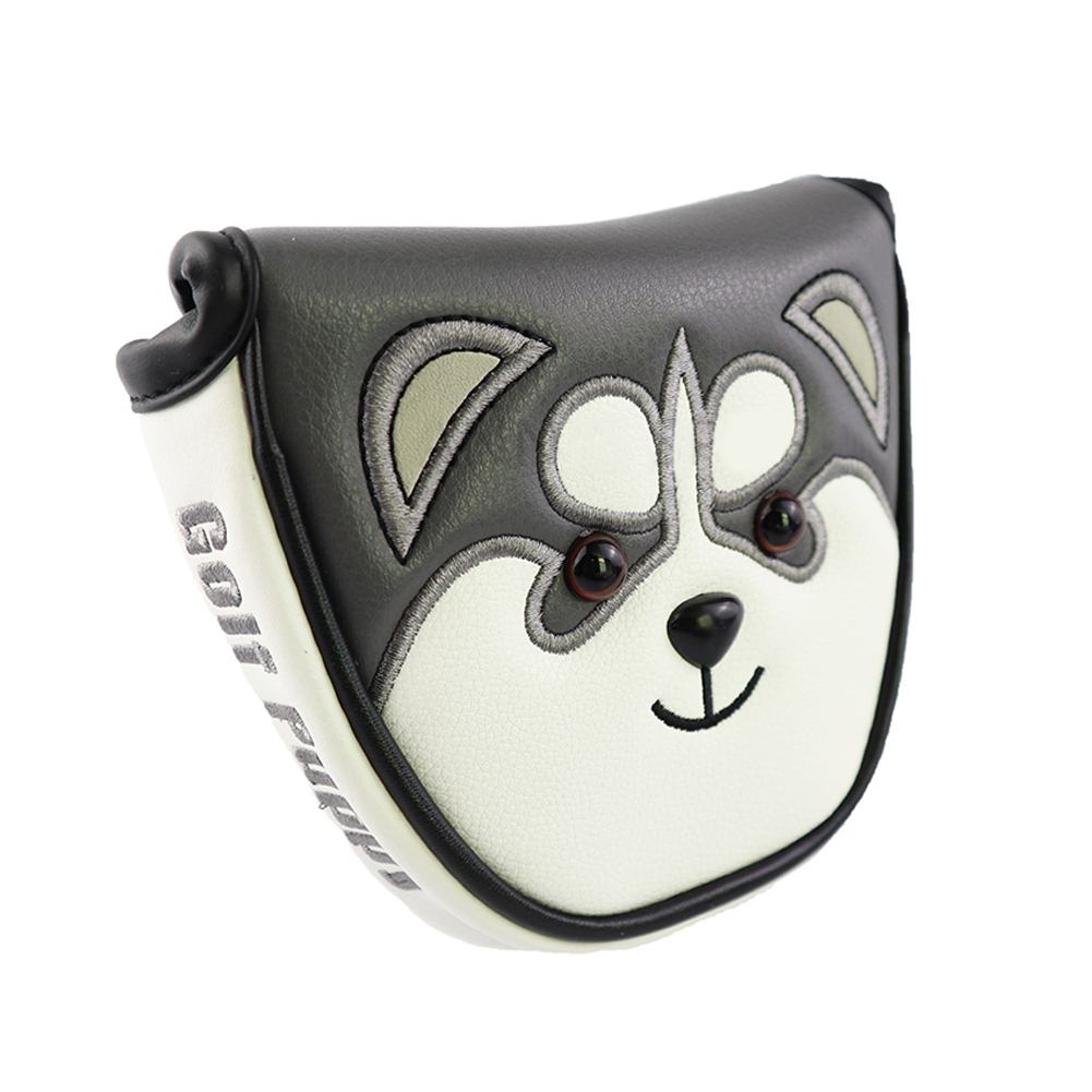 Golf Club Head Cover Protector Guard Accessories Putter Cover Cartoon Headcover white