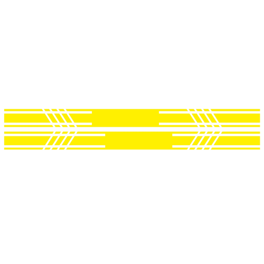 D-1044 2pcs Car Stickers Car Body Racing Side Door Long Striped Stickers Auto Vinyl Decal for All Cars SUV  yellow