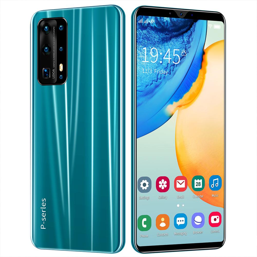 Smart Phone 5.8 Inch Hd+ Full Screen P43 512MB RAM+4GB ROM  Facial Recognition Smart  Phone Green (EU Plug)