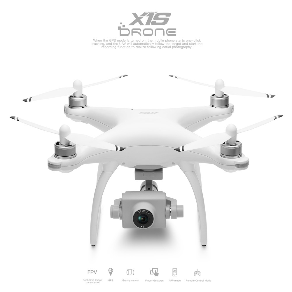 Wltoys XK X1S 5G WIFI FPV GPS With 4K HD Camera Two-axis Coreless Gimbal 22 Mins Flight Time Brushless RC Drone Quadcopter Single battery