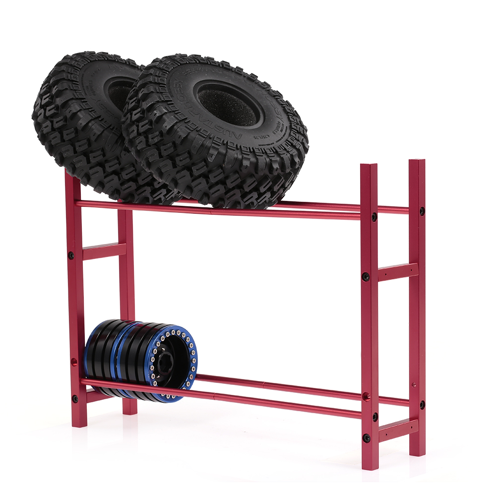 1/10 Scale 1.9 2.2 Wheel Rim Tire Storage Rack for RC Crawler Traxxas TRX-4 Axial SCX10 D90 D110 TF2 RC Car red