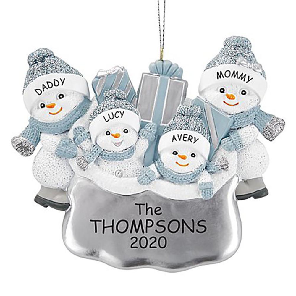 DIY Snowman Hanging Ornament Pendant for Family Blessings Christmas Tree Decor Four snowmen