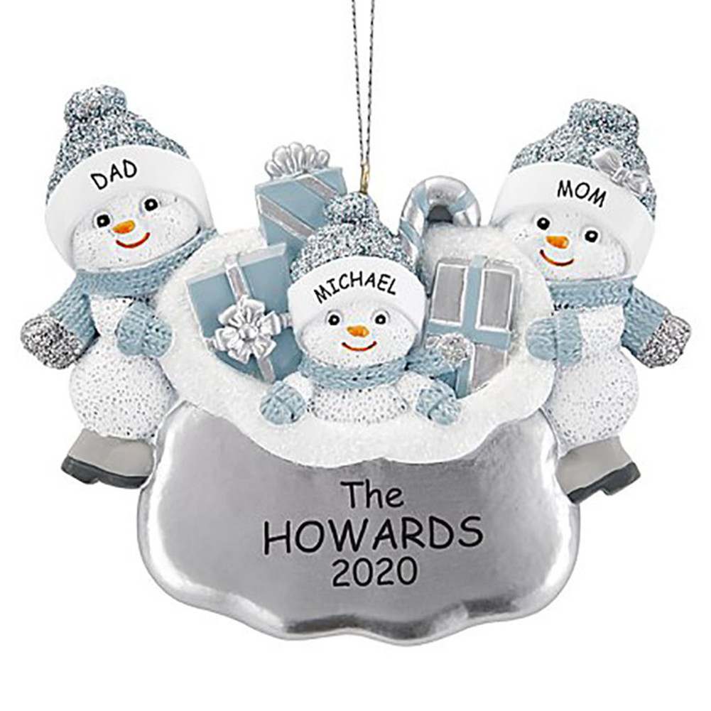 DIY Snowman Hanging Ornament Pendant for Family Blessings Christmas Tree Decor Three snowmen