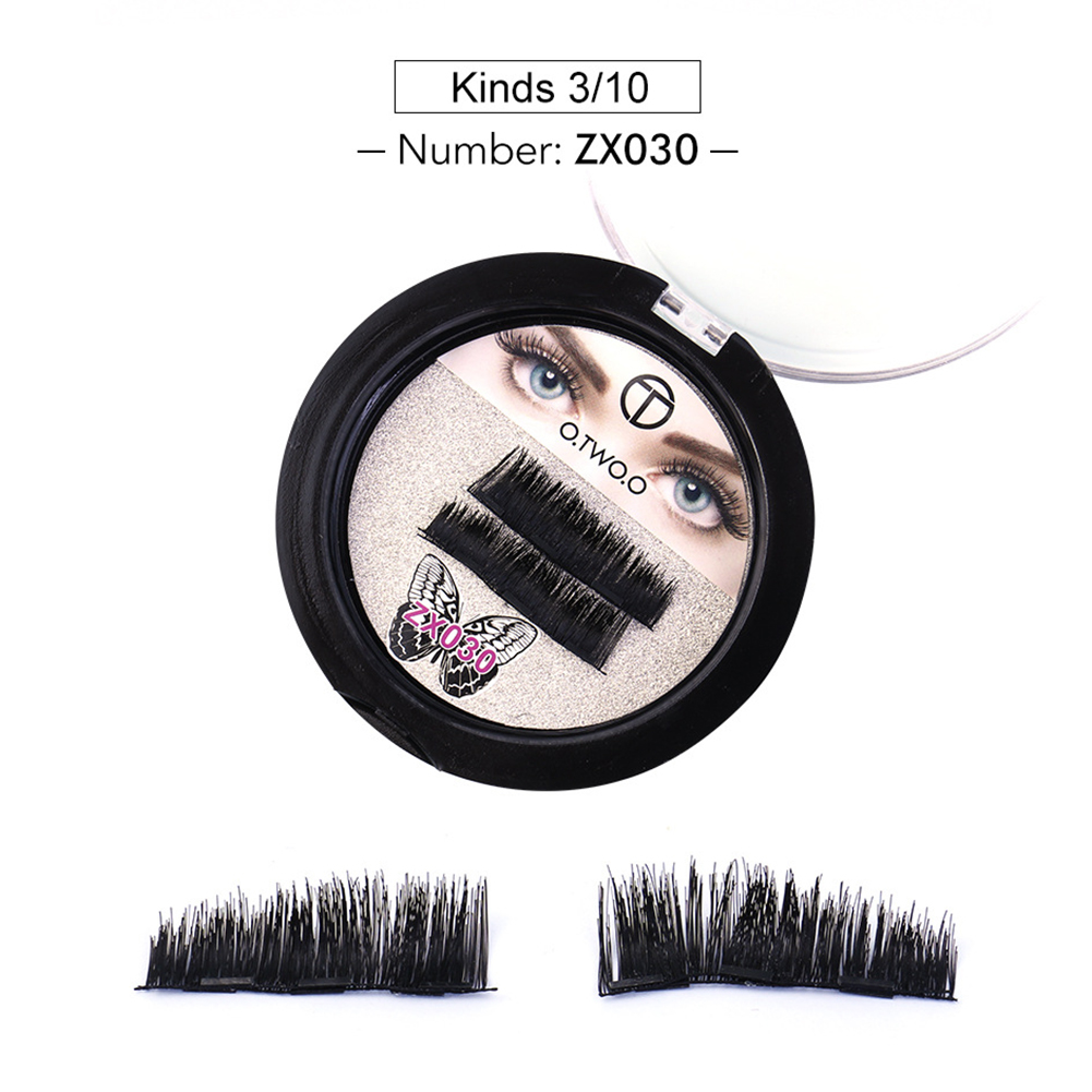2PCS 3D Magnetic False Eyelashes with Soft Hair Stylish Beauty Supplies Gift