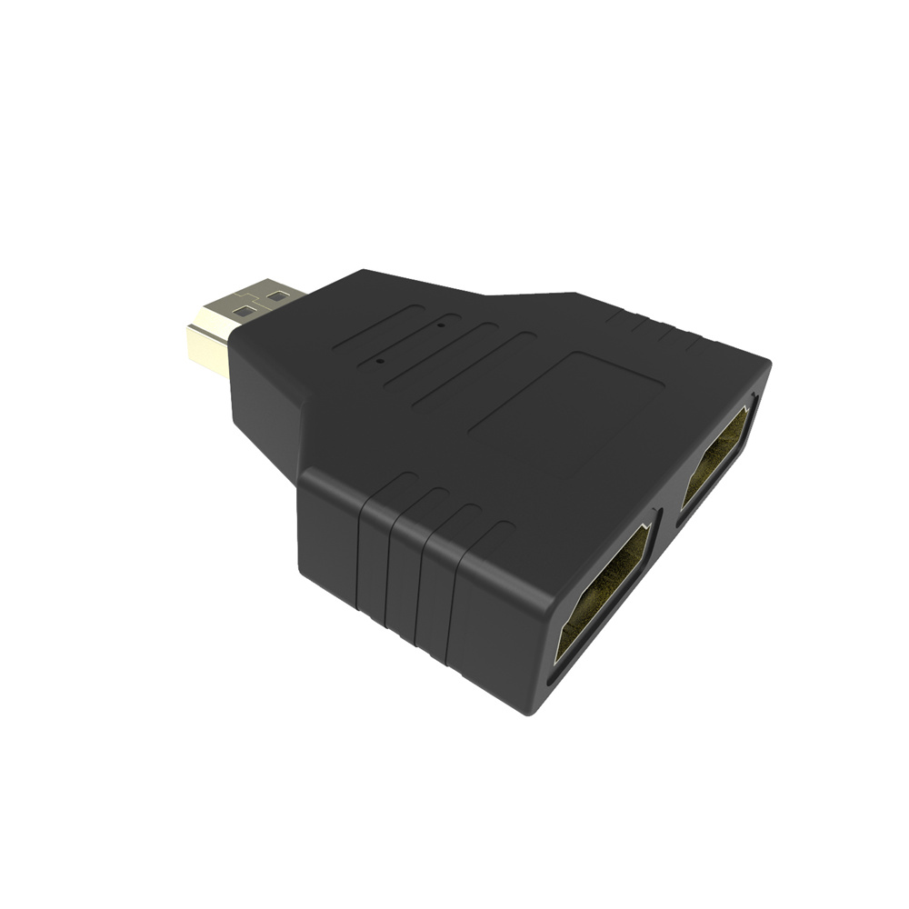 1080P HDMI Male to 2 Female Port 1 in 2 Splitter Output Adapter Cable Converter V1.4 for HDTV Projector Tablet black