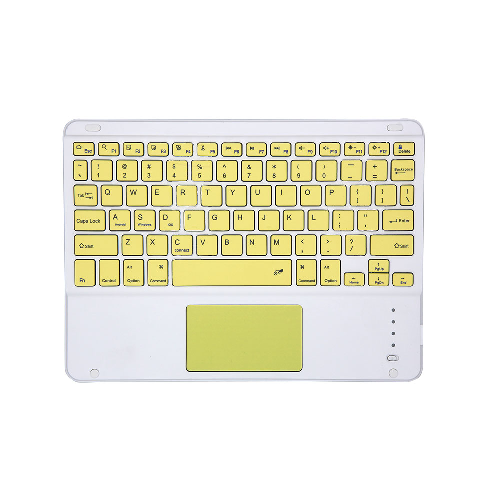 Tablet Wireless Keyboard Bluetooth Keyboard for IOS requires a version of IOS13 or above yellow