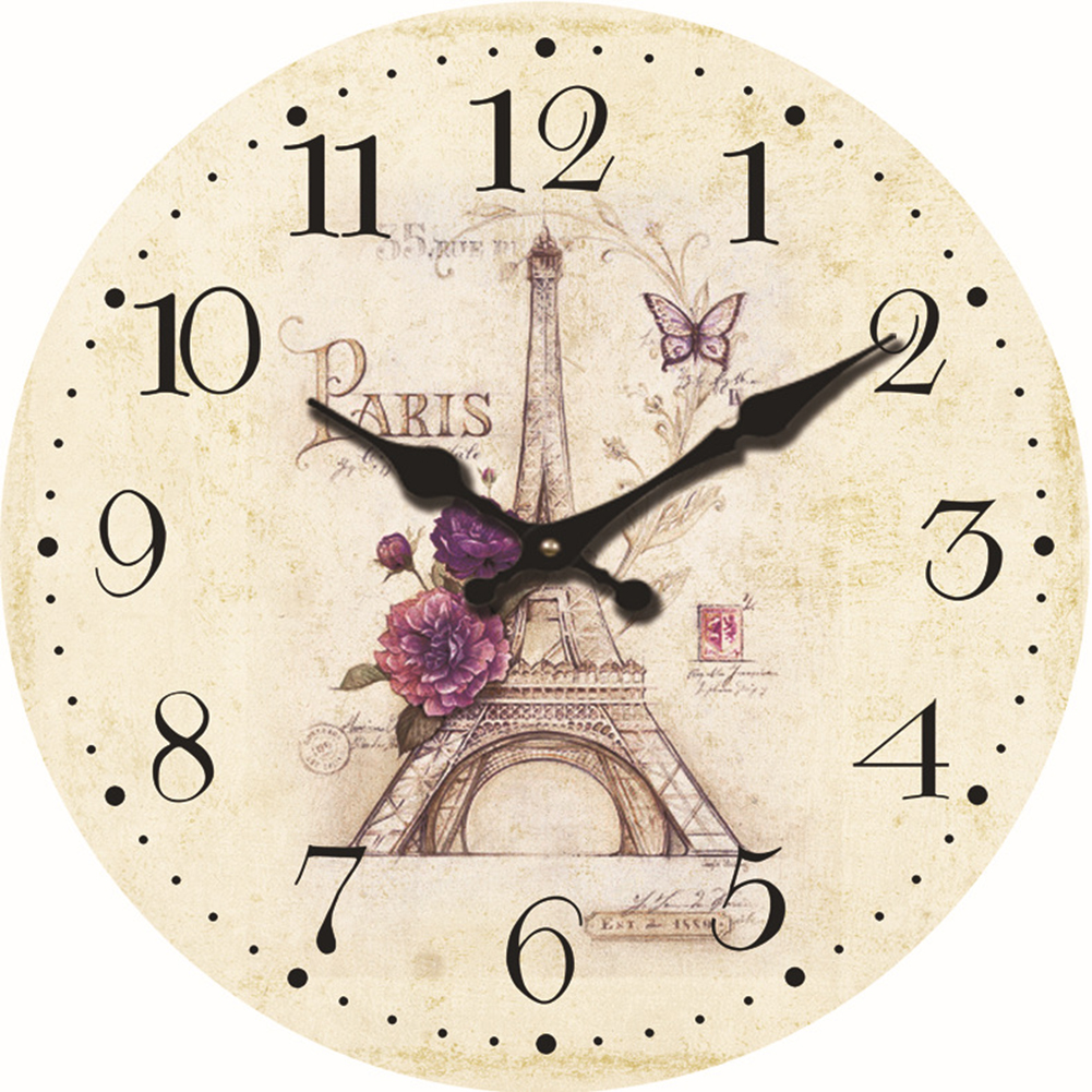 Stylish Round Wall Clock for Bedroom Study Office Christmas Birthday Gift Home Decoration