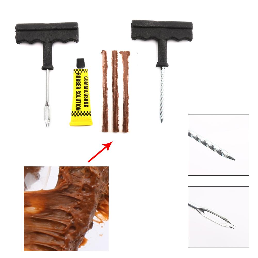 6Pcs/Set Professional Auto Car Tire Repair Kit Car Bike Auto Tubeless Tire Tyre Puncture Plug Repair Tool Kit