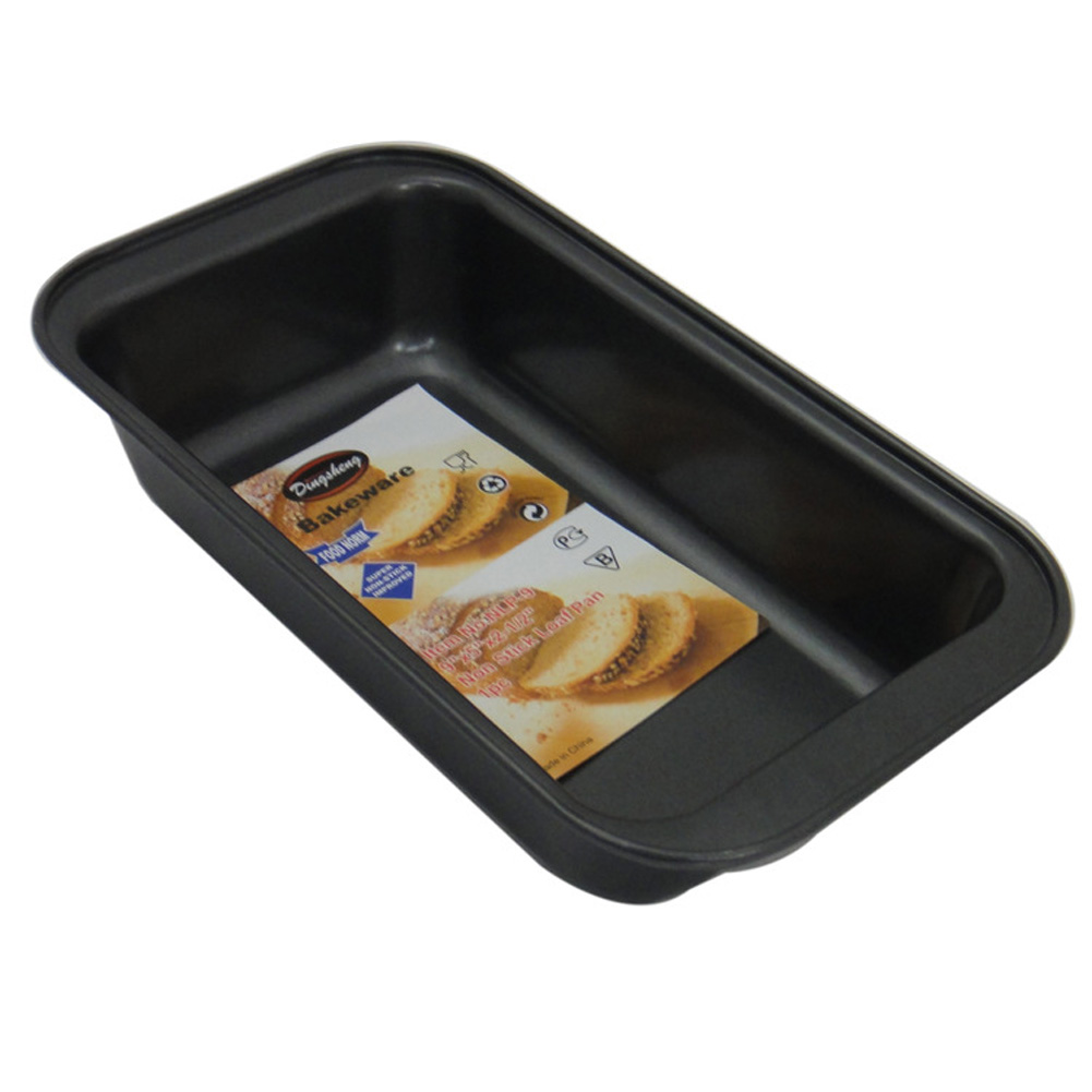 Non-Stick Loaf Tin Baking Tray Bread Pate Carbon Steel Mold black