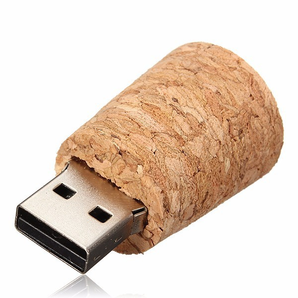 Ants Wooden Unique Bottle and Plug Shape Flash Drive USB Drive brown_16G