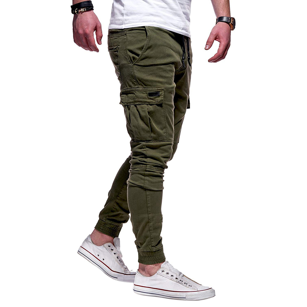 Men Soft Cotton Sports Jogging Pants