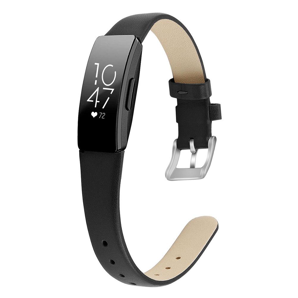 Bracelet Wrist Belt Inspire Pure Color Printing Leather Strap for Fitbit Inspire HR  Black L code