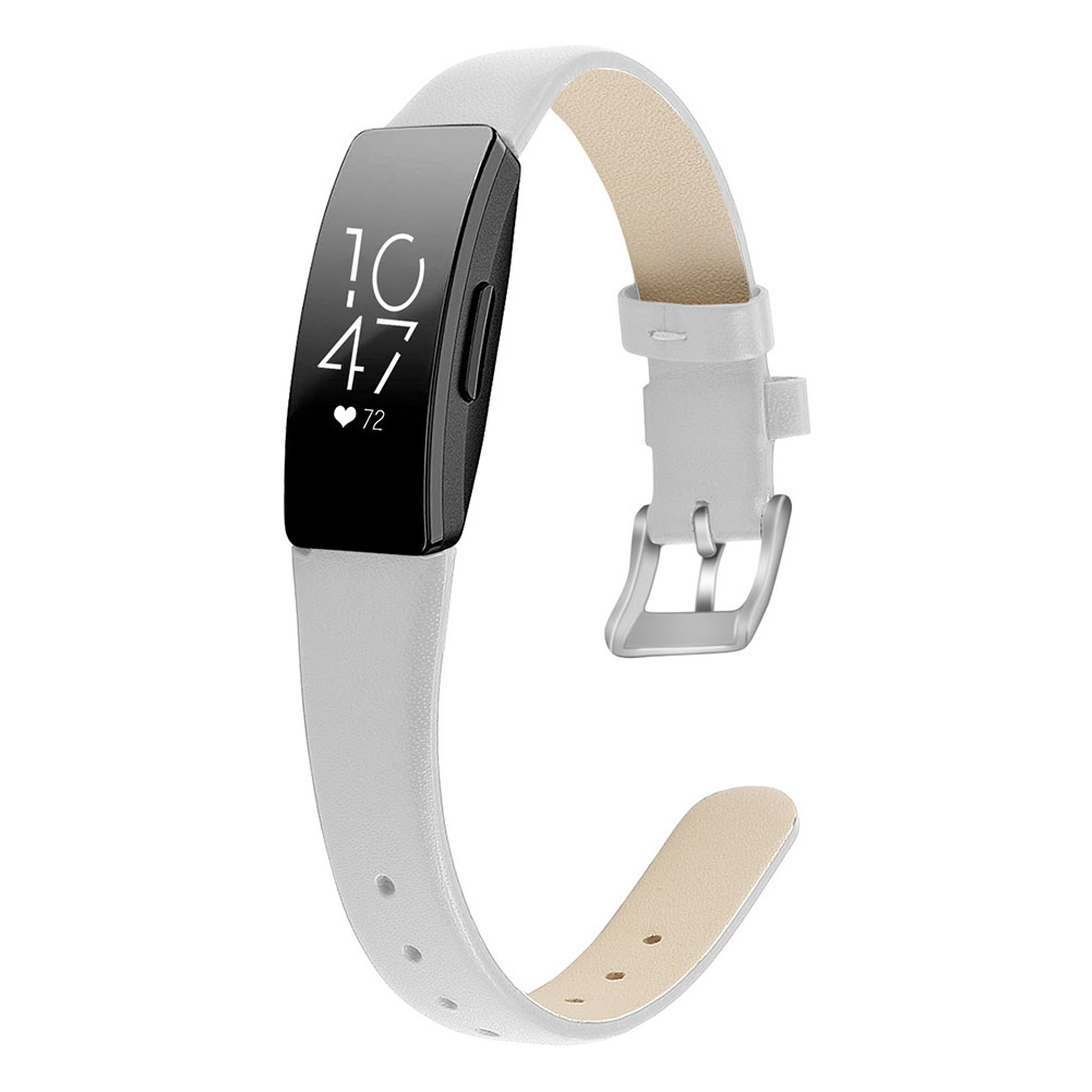 Bracelet Wrist Belt Inspire Pure Color Printing Leather Strap for Fitbit Inspire HR  White L code