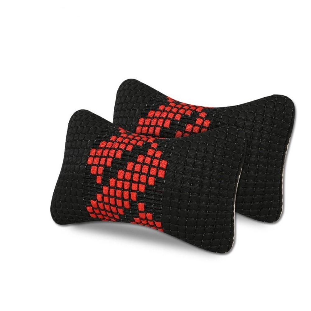 Car Headrest Machine Weaving Ice Silk Headrest Neck Support Summer Head Neck Pillow black
