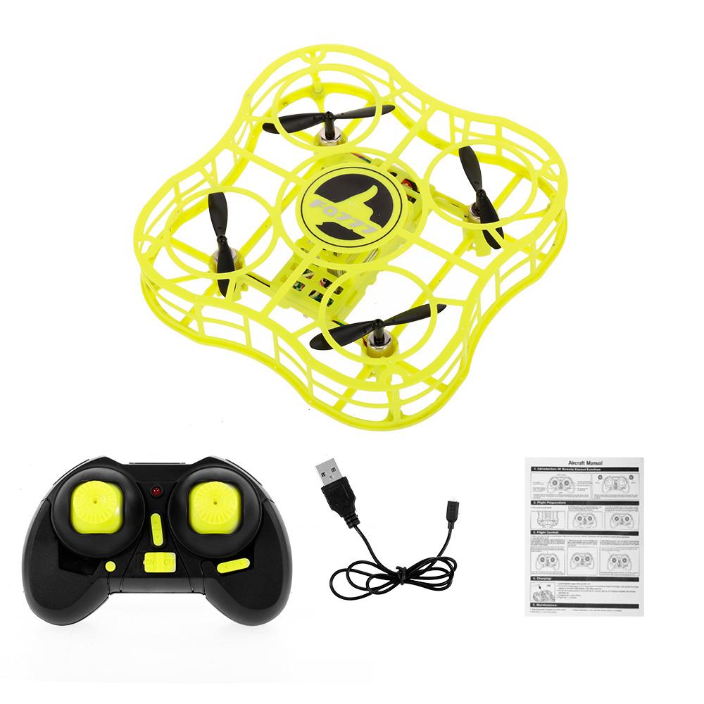 FQ777 FQ03 Mini Drone Full Shields 360 Flip One Key Return Drones Headless Mode RC Quadcopter for Beginner yellow
