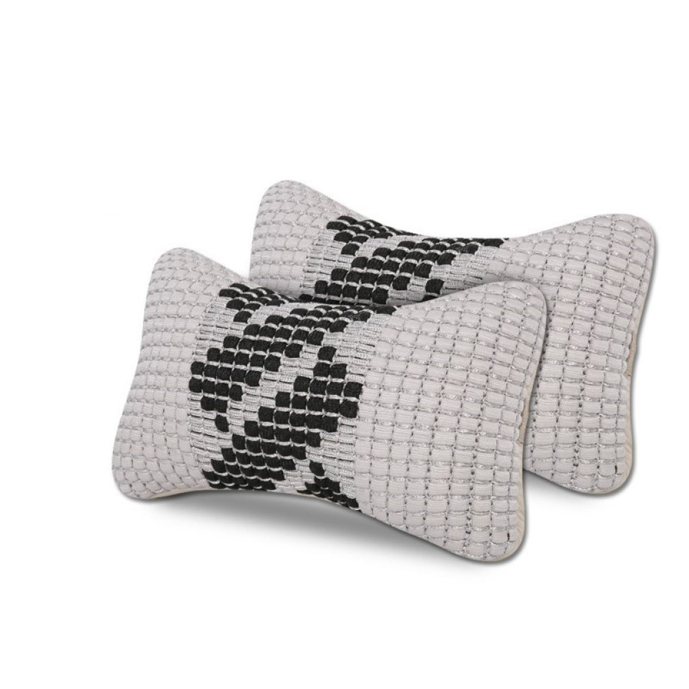 Car Headrest Machine Weaving Ice Silk Headrest Neck Support Summer Head Neck Pillow gray