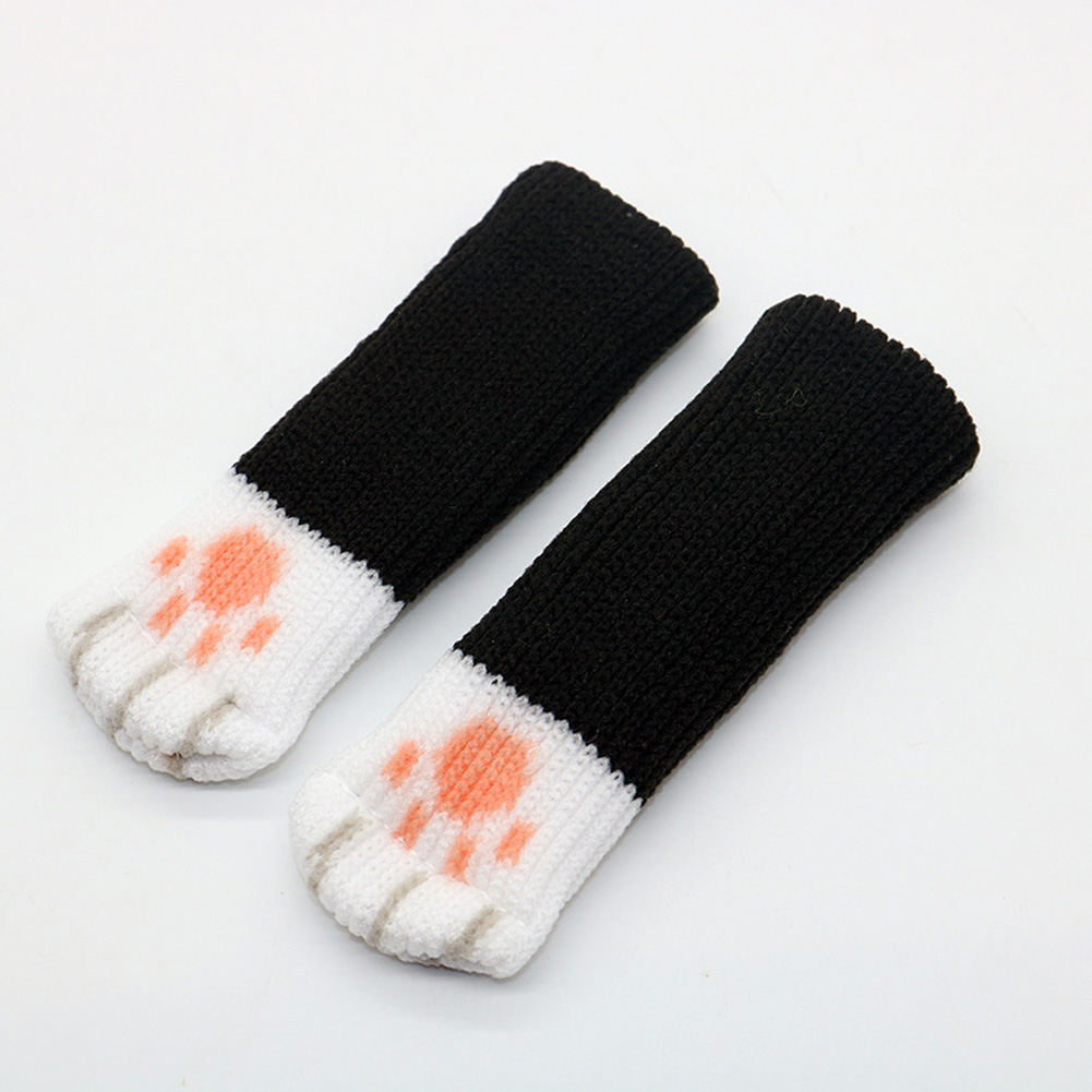 Cute Table Leg Pads Double Layer Thicken Claw Shape Chair Table Leg Cover black_Suitable for circumference 7-18 cm