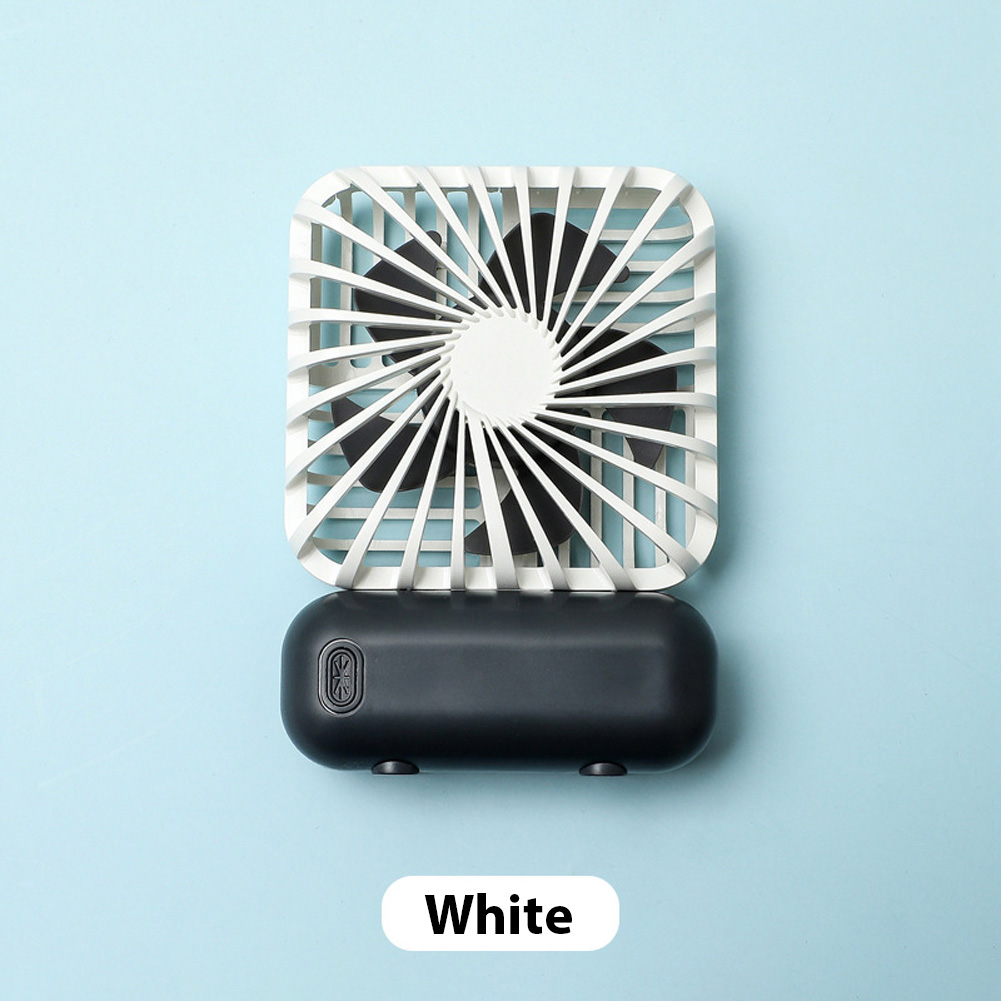 Mini Desk Fan Portable Handheld Outdoor Silent USB Rechargeable Fan for Office Student white_11 * 6.5 * 3cm