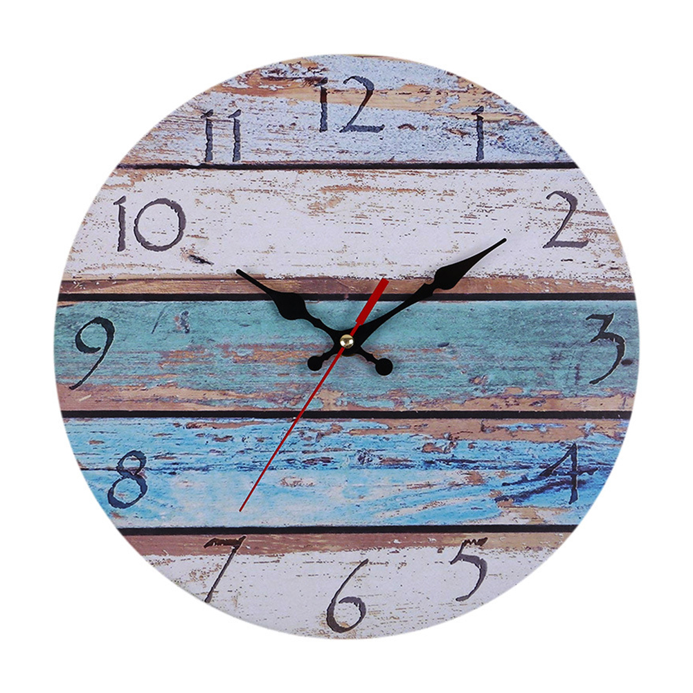 Retro Vintage Rustic Clocks Home Living Room Bar Decoration Self-provided AA Battery style 1