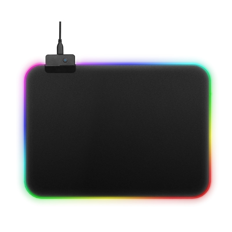 RGB Colorful LED Lighting Gaming Mouse Pad Mat for PC Laptop 350*250mm  As shown