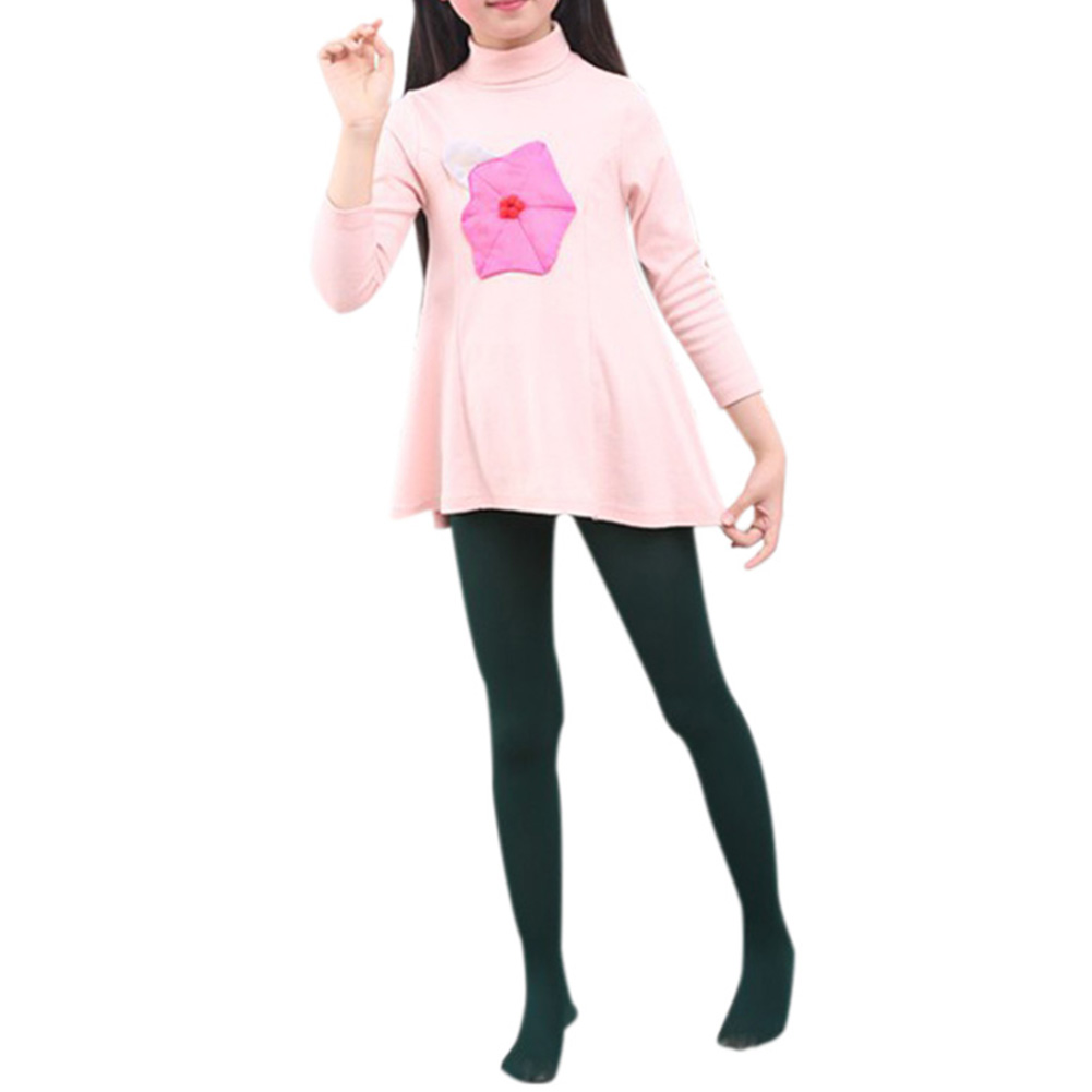 Girl Footed Pantyhose Solid Color All-match High Elasticity Bottoming Socks Anti-hook Thin Leggings Sock